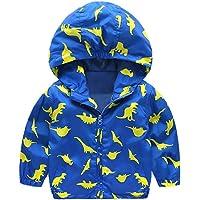 Unisex Bambine E Bambino Dinosauro Cappuccio Zip Cappotto Giacca Animale Felpa Mantello del Cappotto di Inverno della…