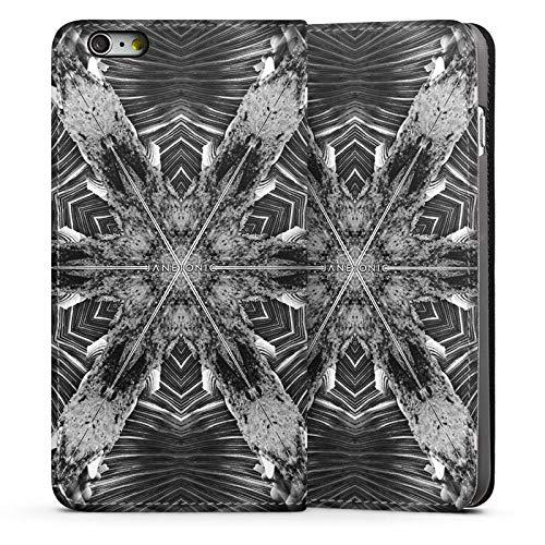 DeinDesign Leder Flip Case kompatibel mit Apple iPhone 6 Plus Tasche Hülle Abstract Abstrakt Batik - Batik-leder