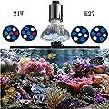 WML-LIGHT 21W Spectre Complet LED Aquarium Lights Par38 récif de Corail LED Aquarium Lights E27 Plantes Poussent dans Les récifs de Corail d'eau de mer Aquarium
