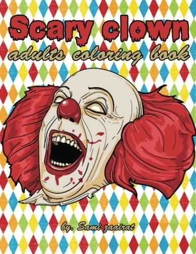 Scary clown: adults coloring ()