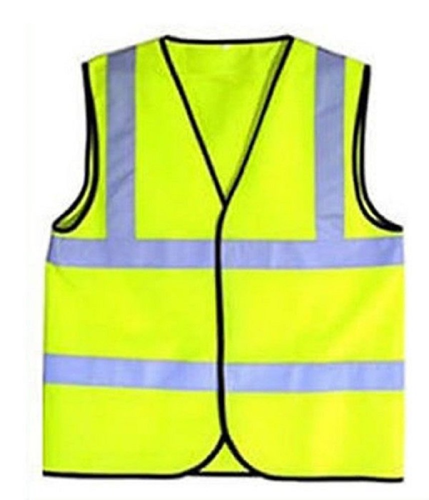 Gilet giallo ad alta visibilit� con strisce riflettenti per bambino, gilet per sport, giallo