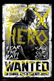 Batman vs Superman Poster 'Wanted Hero/héros cible' (61 x 91,5 cm 1 surprise Poster) cm offerte