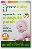 VIE, Green Baby, Squeeze & Stick Mosquito Patches, Deet Free, Suitable for the whole family (48 Patches)