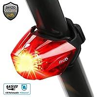 Fahrrad Rücklicht, BIGO StVZO Zugelassen Ultra Hell LED USB Aufladbar Wasserdichte Fahrradlicht Fahrradbeleuchtung…