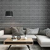 KINLO 5 Stücke Steinwand 70x77x1cm grau Verdickt selbstlebend Wanddeko Ziegel 3D modern Wasserdicht Tapete Brick aus hochwertigem PVC für Zimmer 2 Jahren Garantie