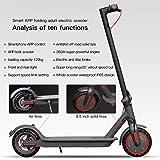 Elektrisk skoter, 350 W motor, lätt och hopfällbar skoter för vuxna, färg-LCD-skärm, Bluetooth, APP-kontroll, svart