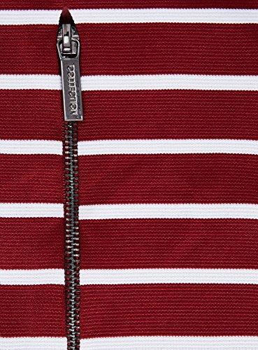oodji Ultra Femme Robe en Maille Imprimée Rouge (4910S)