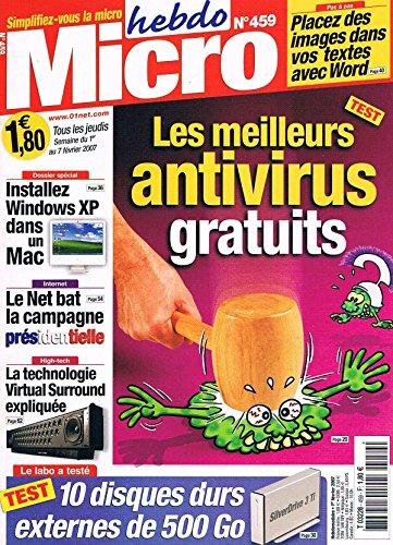 Micro Hebdo   N°459   1fev 2007 : Antivirus gratuit