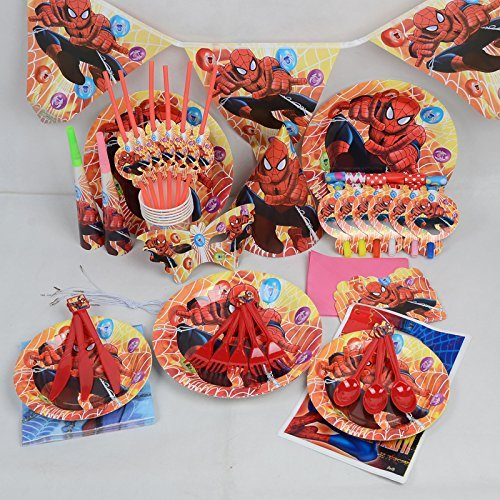 marvel-spiderman-geburtstag-hochzeit-party-dekoration-geschirr-cartoon-16pack-kit-von-trimmen-shop-r