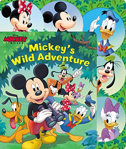 Disney Mickey Mouse: Mickey's Wild Adventure (Sliding Tab) (Mickey Mouse In Color)