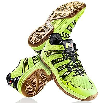 Salming , Chaussures de handball pour homme Jaune Jaune - Jaune - Gelb (Safety Yellow), 46 EU / 10.5 UK / 11.5 US EU