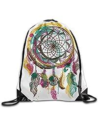 guolinadeou Ornament Dream Catcher Print Drawstring Backpack Rucksack Shoulder Bags Gym Bag Sport Bag