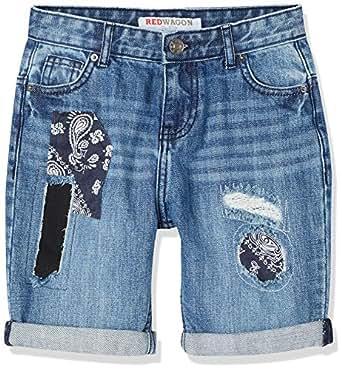 RED WAGON Shorts in Jeans con Toppe Bambino, Blu (Blue), 104 (Taglia Produttore: 4 Anni)