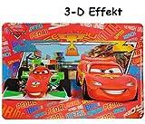 3-D Effekt Unterlage -  Disney Cars Lightning McQueen  - 43 cm * 30 cm - Tischunterlage / Platzdeckchen / Malunterlage / Knetunterlage / Eßunterlage - Auto ..