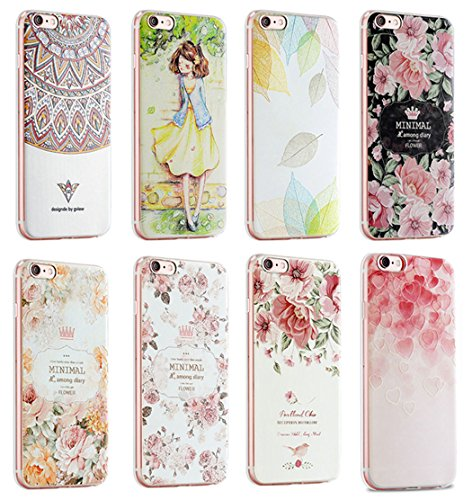 "Apple iPhone Hülle Ultra Slim Case weiche TPU Silikon Schutzhülle Kreativität 3D Malerei Handyschale Back Cover inkl. Ring Halterung (iPhone 7 Plus 5,5"", Liebe) Mädchen"