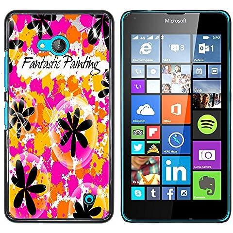 NOKIA Lumia 640 - Metal de aluminio y de plástico duro Caja del teléfono - Negro - Sun Beach Hippie verano de