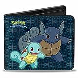 Pokemon Animated TV Series Squirtle Evolution Bi-Fold Wallet