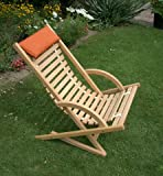 Liegestuhl Schaukelstuhl mit Holzlamellen aus Buche massiv geölt