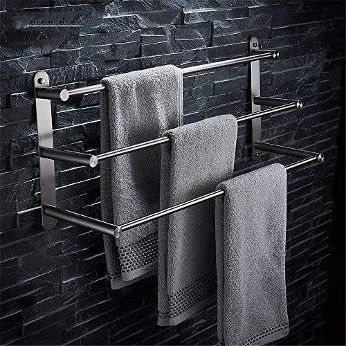 BAIF Acero Inoxidable Cepillado Creativo de múltiples Funciones de baño Inodoro Varilla Colgante Barra de Toalla de Tres Capas Toallero Colgante