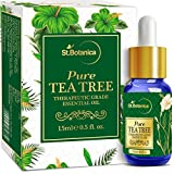 #4: StBotanica Tea Tree Pure Aroma Essential Oil - 15ml - Highest Quality Therapeutic Grade - with Premium Quality Glass Dropper