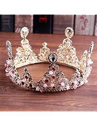 TOUSHI Barocco Matrimonio Corona Imperiale Strass Fascia di Cristallo La  Corona del Cerchio Completo della Sposa Santa Comunione Accessori… 3ace288dd4eb