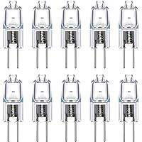 Vicloon Ampoules Halogènes G4 /20W 12V,G4 Lampes de Base Blanc Chaud 2900K,360° Larges Faisceaux,300lm,Pack de 10