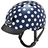 Nutcase Street-Navy Dots Helm, Mehrfarbig, Taille : S