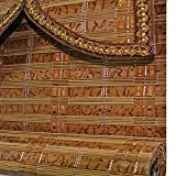 WENZHE Bambusrollo Fenster Sichtschutz Rollos Holzrollo Bambus Raffrollo Rollo Kordelzug Kann Heben Dauerhaft Wohnzimmer Büro, Bambus, 4 Farben, 17 Größen (Farbe : 3#, Größe : 60x200cm)