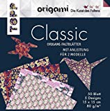 Origami Faltblätter Classic: 50 Faltbläter in 5 Designs mit Anleitungen für 2 Modelle (Die Kunst des Faltens)