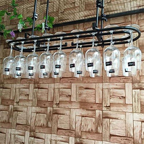 Weinregale Ringförmige Weinglas-Gestell-Decken-hängende hängende Wein-Flaschen-Halter-Metalleisen-Becher-Schalen-Regal-Wand-Dekorations-Einheits-Rahmen, 30-60cm justierbare Höhe Halter Ständer