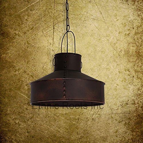 Vintage industriel Marron Mat plafond Pendentif lampe à suspension nautique Pendentif