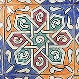 Orientalische Marokkanische Handbemalte Fliese Kortoba 15 x 15 cm