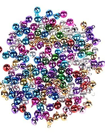 Multicolored Jingle Bell/ Small Bell/ Mini Bell/Tinkle Bell for Christmas Decoration 100pcs Each Pack 6MM