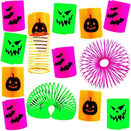 German Trendseller® 12 x Halloween Spiralen Spooky Strolche ┃ Kindergeburtstag ┃ Mitgebsel ┃ 12 Stück