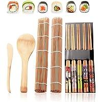 Kit de fabrication de sushis en bambou, kit de fabrication de sushis pour famille, bureau, fête fait maison, gadget pour…