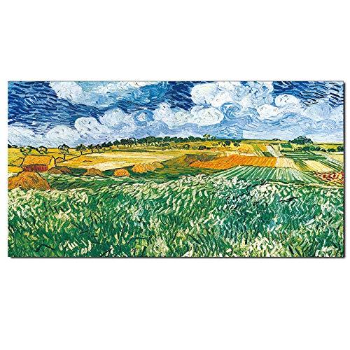 Van Gogh Ölgemälde funktioniert Sonnenblume Aprikose Replik abstrakte Leinwand Kunstdruck Poster Bild Wand Haus Dekoration (kein Rahmen) R1 20x40CM