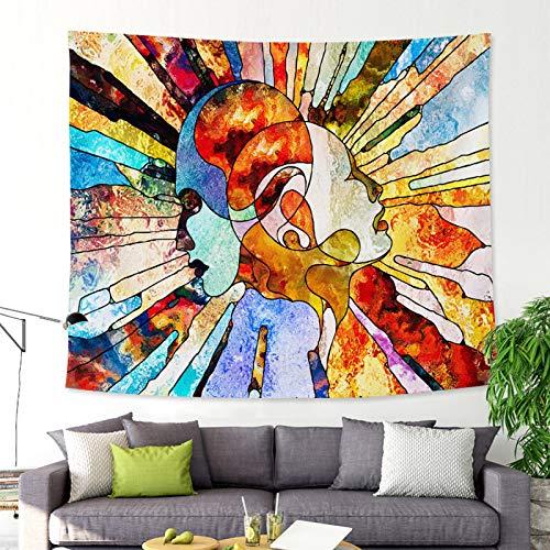 mmzki Ölgemälde-Artgewebetapisserie-Badetuch GT-CX011 150x130 der abstrakten Kunst -