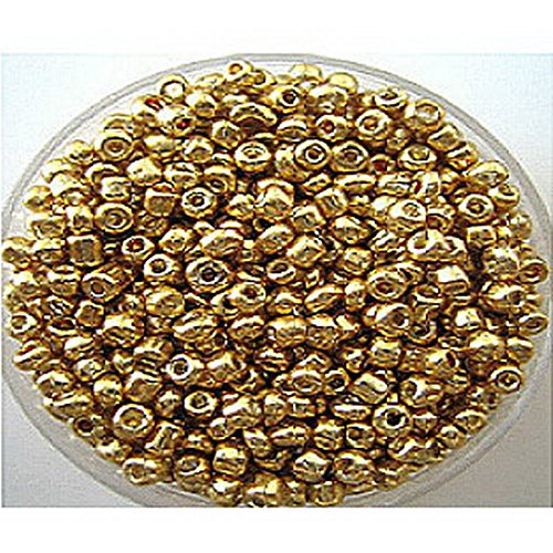 Oferta al por mayor Youpin 1200pcs 2 mm hand-beaded Checa bolas de cristal Spacer Beads Jewelry Making DIY Pick findings-golden