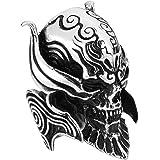 Amody 25MM Anello Gotico Punk Uomo Cranio del Demone craniale Anello in Acciaio Inox per Uomo