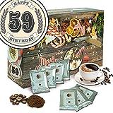 Geschenk zum 59. | Advent Kalender Bohnen Kaffee | Kalender Weihnachten aromatisierter Kaffee Kalender Weihnachten Frauen Kalender Weihnachten Mann Kalender Weihnachten xxl Adventskalender Bohnen Kaffee