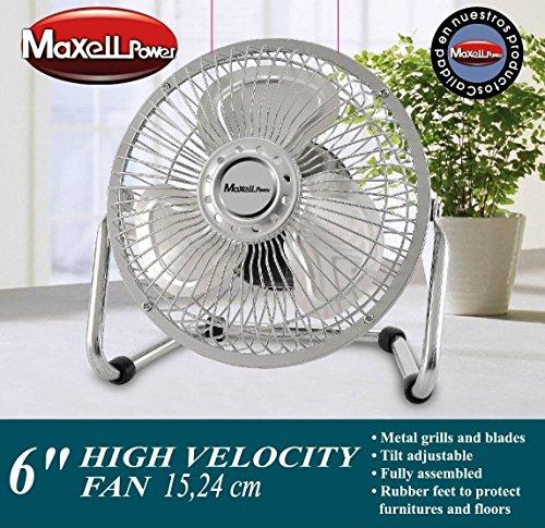 Maxell Power CE Ventilador DE SOBREMESA Mini ASPAS Parrilla Metal 6
