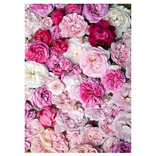 LEDMOMO Blume Fotostudio Hintergrund Tuch 3D Floral Fotografie Hintergrund Wand Requisiten 90x150cm (949) Collapsible Muslin Hintergrund