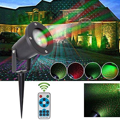 r,Gartenlicht Lichteffekt Standfuß Weihnachten Wasserdichte Spotlight Mit Roten und Grünen Lightings, Party Licht,für Weihnachten,halloween usw.(mit RF Fernbedienung) (Outdoor-halloween-projektor)