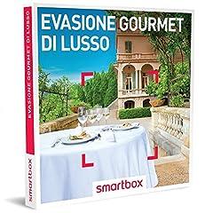 Idea Regalo - Smartbox Cofanetto Regalo- EVASIONE GOURMET DI LUSSO - 31 soggiorni con gusto in hotel 4*