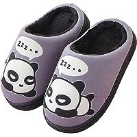 Peluche Pantofole Donne Uomo Caldo Carine Panda Pantofole Inverno Autunno Bambine Interni Antiscivolo Scarpe di Slipper…