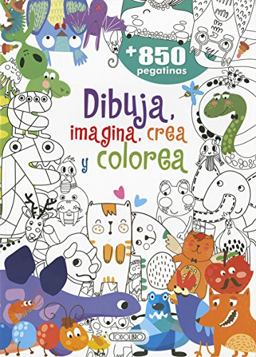 Dibuja,crea colorea 2 (Dibuja,crea,imajina y colorea) por Aavv