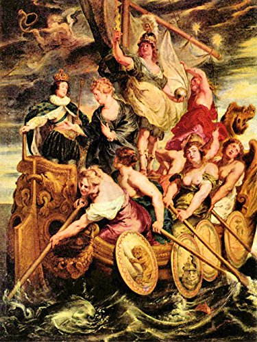Das Museum Outlet–The Medici 's Queen Escapes aus Blois von Rubens–Poster (61x...