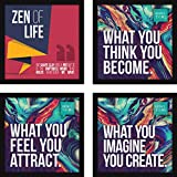 #6: Framed Paintings for Wall - Abstract Home Decor Large Art for Bedroom and Living Room - Set of 4