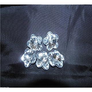 5 x Acrylic Diamante Buttons-Flower 44 Line - 27 mm