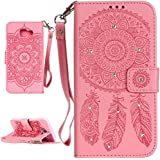 PQ-MALL Samsung Galaxy A3 (2016) Coque, Bling Bling Rose Etui Housse (Gaufrage ) Pour Samsung Galaxy A3 (2016) SM-A310F Récompense: Récompense:stylet inclus X1